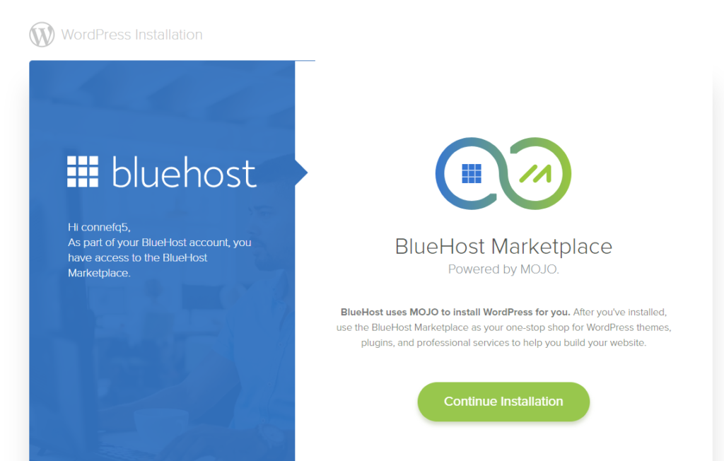 Wordpress Blog: Bluehost Install WordPress