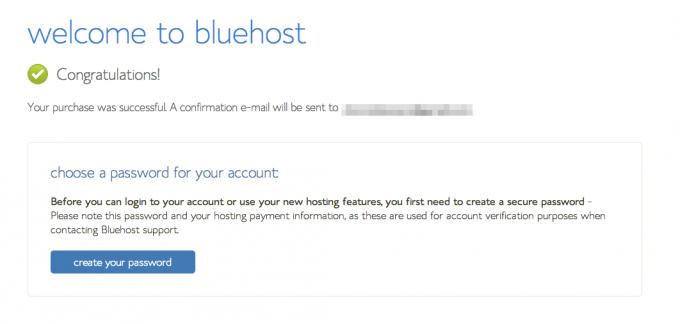 Wordpress Blog: Bluehost Password