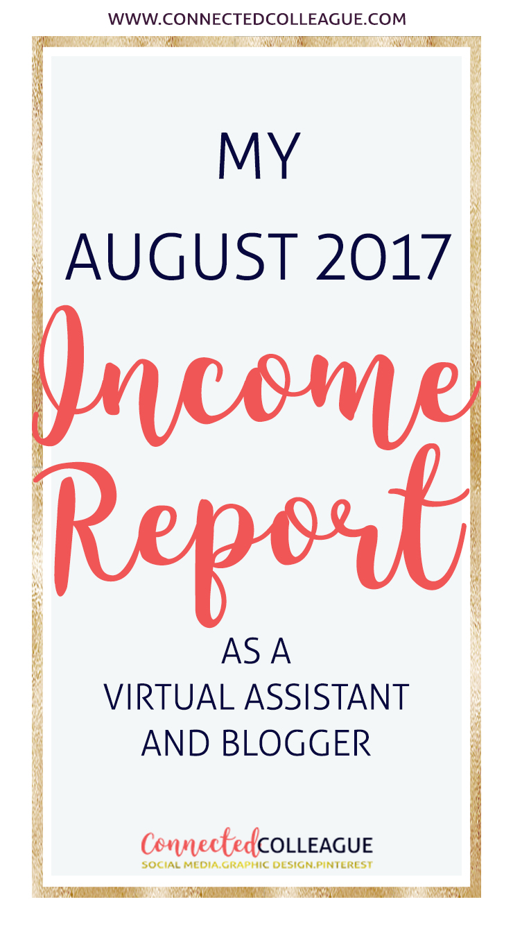 My August Income Report as a Virtual Assistant and Blogger