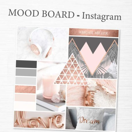 Mood Board Template Rose Gold Collection Connected