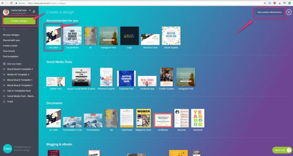 Create a new Opt-in Freebie Design